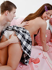 Nasty guy won't miss this hot teen arsehole
